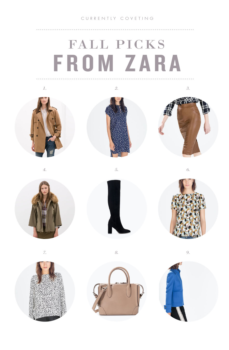 FALL PICKS FROM ZARA