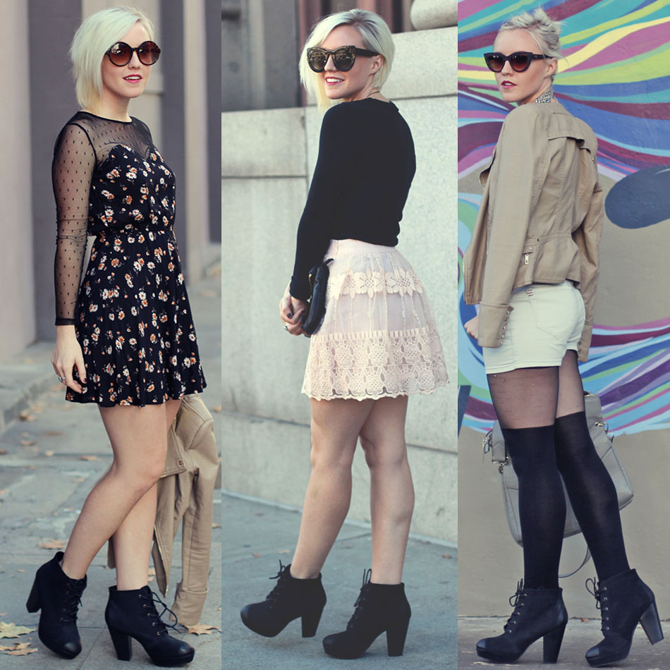 3 ways to wear platform booties