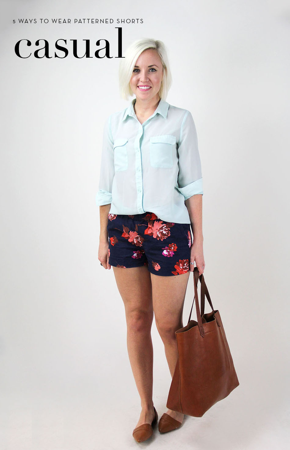 how to wear patterned shorts 2