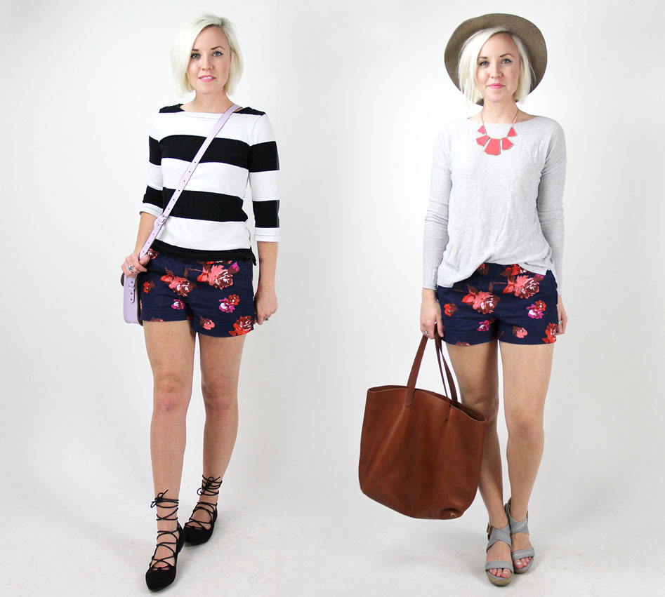 how to wear patterned shorts7